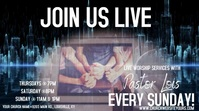 Live Church Worship Service Digital Ad งานแสดงผลงานแบบดิจิทัล (16:9) template