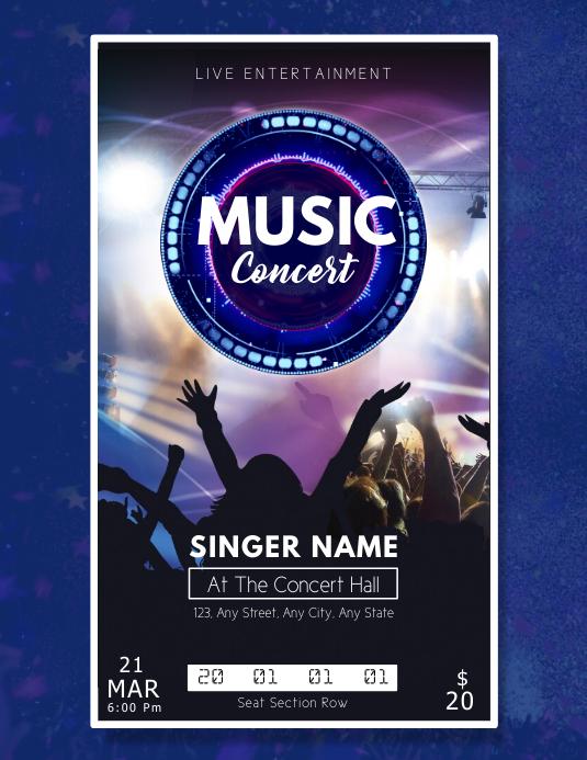 Live Concert Pass Template