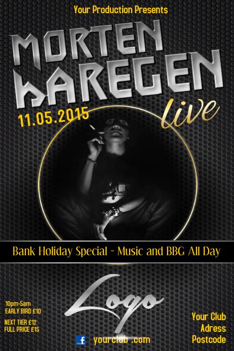 Live concert poster