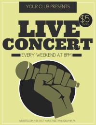 Live Concert Flyer (US Letter) template