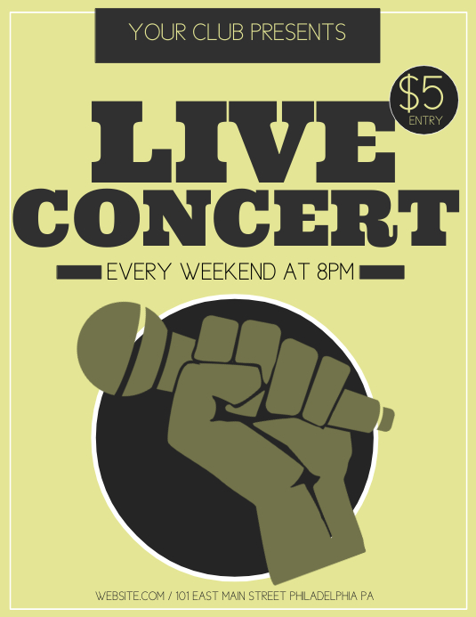 Live Concert Pamflet (VSA Brief) template