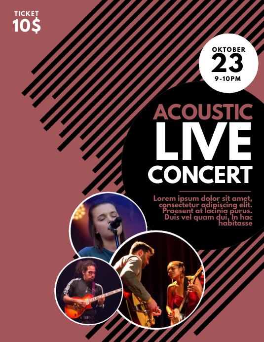 Affiche Concert direct concert affiche modèle | postermywall