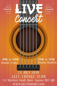 Live Concert Poster Template