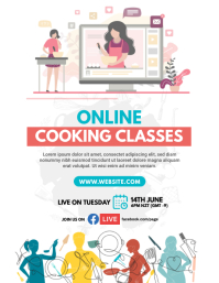 Live Cooking Lessons Flyer