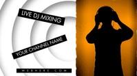 Live DJ Channel Banner Video Omslagfoto YouTube-kanaal template