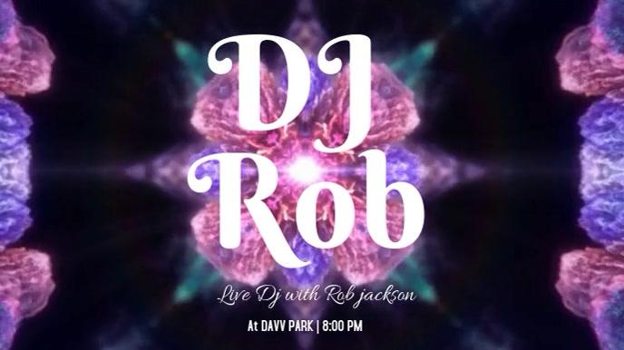 Live DJ event Цифровой дисплей (16 : 9) template