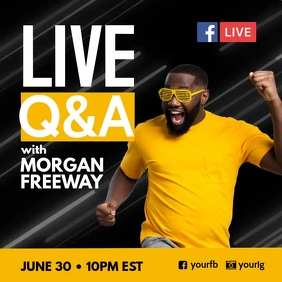 Live facebook Q & A Poster template