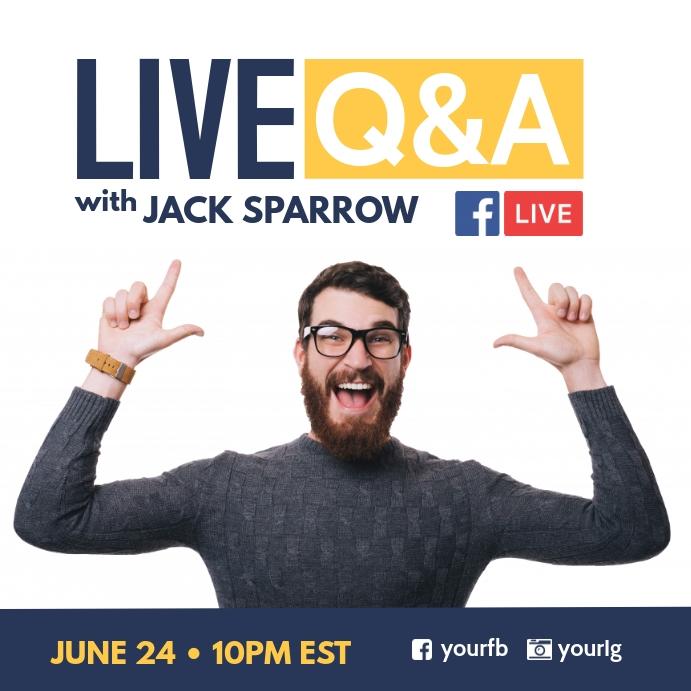 Live facebook Q & A Poster template