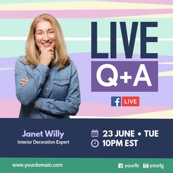 Live Fb Question and Answer Pos Instagram template