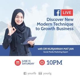Live FB Webinar Business Instagram Post template