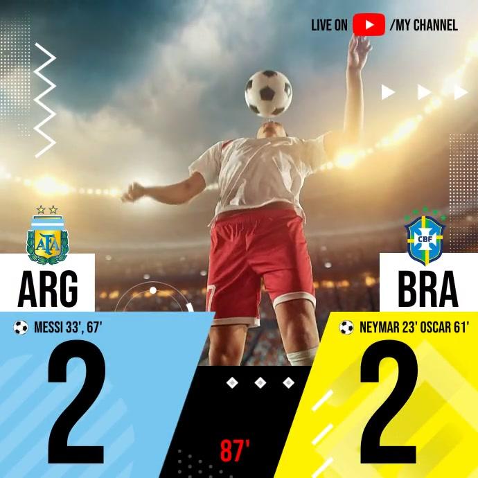 Live Football Match Score Publicación de Instagram template