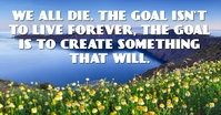 LIVE FOREVER QUOTE TEMPLATE Facebook 广告