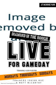 Live Game day Rugby Poster Template