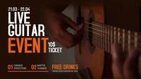 Live Guitar Music Facebook Video template
