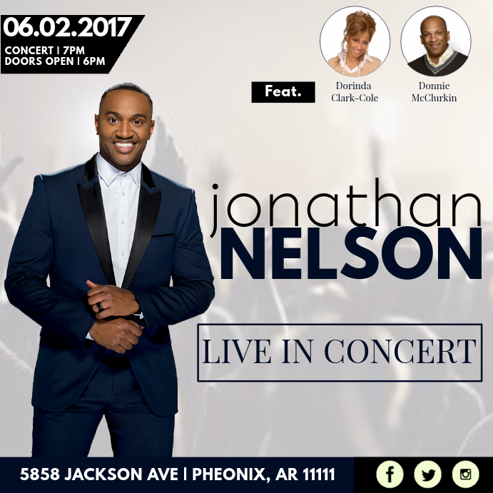 Live In Concert Pos Instagram template