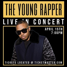 LIVE IN CONCERT FLYER TEMPLATE