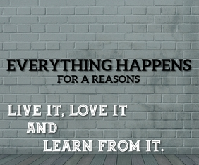 LIVE IT, LOVE IT AND LEARN FROM IT SHORT QUOT Großes Rechteck template