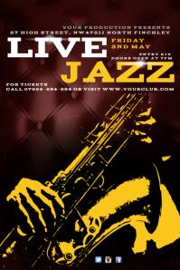 Live Jazz Concert Poster