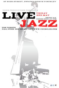 Live Jazz Leaflet