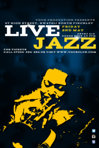 Live Jazz Poster