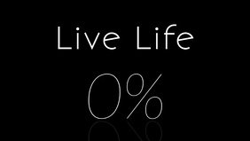 Live Life 100% Video Template วิดีโอหน้าปก Facebook (16:9)