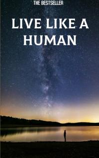 LIVE LIKE A HUMAN BOOK TEMPLATE Kindle/Book Covers