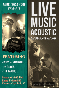 Live Music Accoustic Poster Template