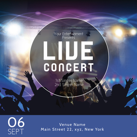 Live Music Concert Template Rock Poster