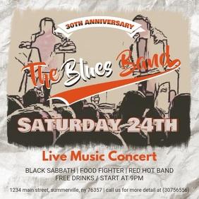 Live Music Concert Online Advert