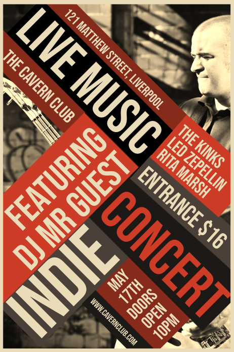 Live Music Concert Poster โปสเตอร์ template