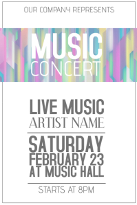 live music concert poster template