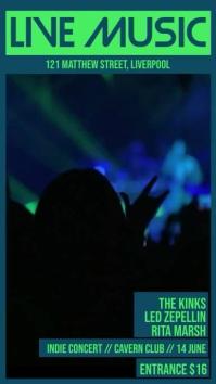 Live Music Concert Video Digital Display (9:16) template