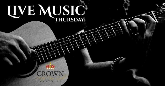 Live music Portada de evento de Facebook template