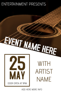 100 Customizable Design Templates For Live Music Poster