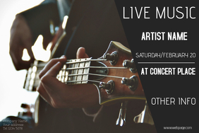 live music event guitar concert poster template