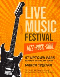 Live Music Festival Event Flyer