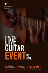 Live Music Flyer / Poster template