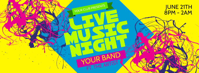 Live Music Night Facebook Cover