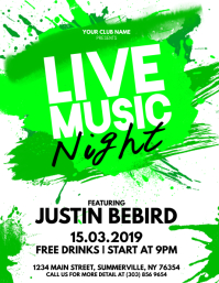 Live Music Night Flyer