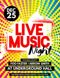 Live Music Night Flyer