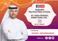 Live Muslim event postcard Briefkaart template