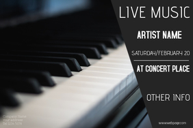live piano concert event poster template