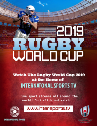 Live Rugby Screening Poster Template