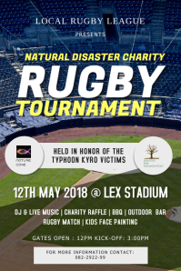 Live screening Rugby Poster Template