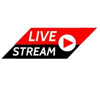 LIVE STREAM LOGO Логотип template
