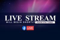 live stream service ป้าย template