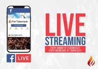 Live Streaming Postkort template