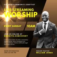 Live Streaming Worship Sunday Service Publicação no Instagram template