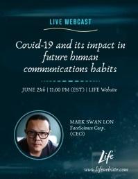 Live Webcast Life Webinar Covid-19 Impact Ad Рекламная листовка (US Letter) template