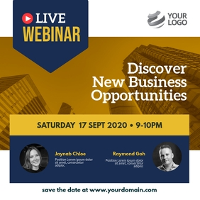Live Webinar Business Instagram Post